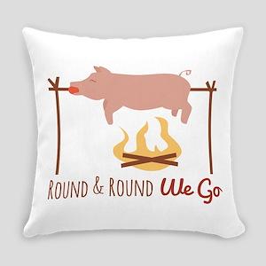 Round We Go Everyday Pillow