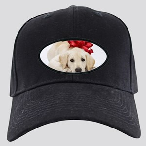 Yellow Lab Puppy Black Cap