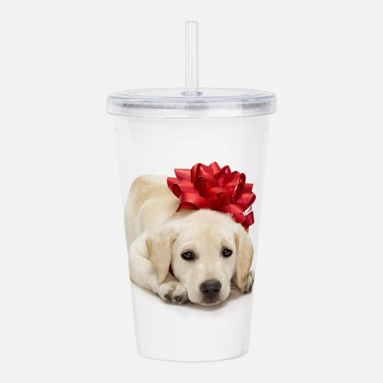 Yellow Lab Puppy Acrylic Double-wall Tumbler