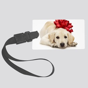 Yellow Lab Puppy Large Luggage Tag