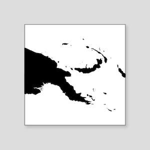 Papua New Guinea Silhouette Sticker