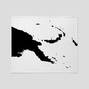 Papua New Guinea Silhouette Throw Blanket