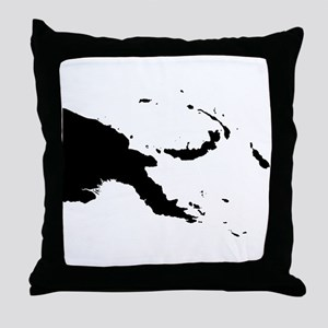 Papua New Guinea Silhouette Throw Pillow