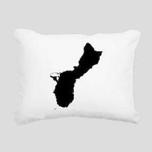 Guam Silhouette Rectangular Canvas Pillow