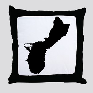 Guam Silhouette Throw Pillow