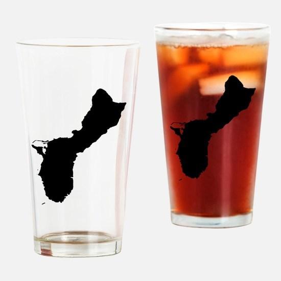 Guam Silhouette Drinking Glass