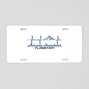 Arizona Snowbowl - Flagst Aluminum License Plate