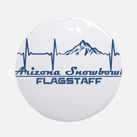 Arizona Snowbowl - Flagstaff - Ar Round Ornament