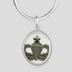 Airborne Senior Parachutist Wings Badge Necklaces