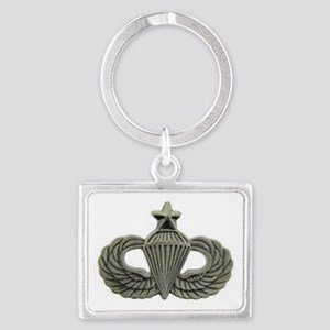 Airborne Senior Parachutist Wings Badge Keychains