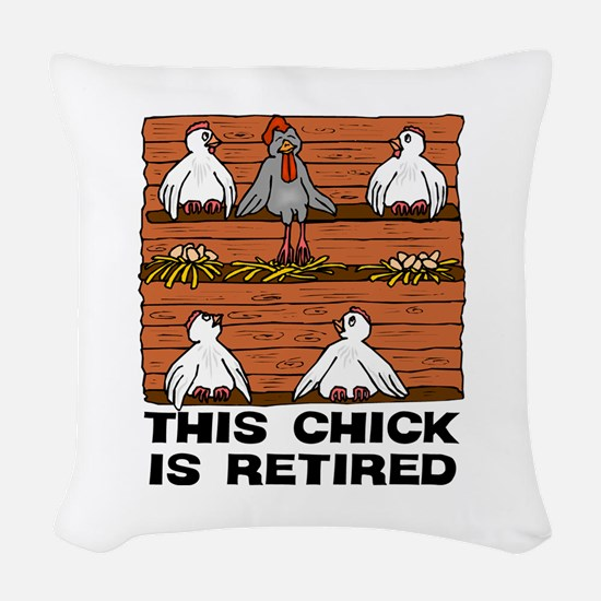 Retired Chick Woven Throw Pillow