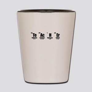 """""""Teacher"""" in Periodic Table Style Shot Glass"""