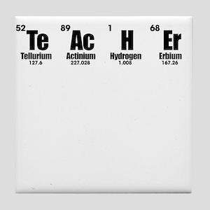 """Teacher"" in Periodic Table Style Tile Coaster"