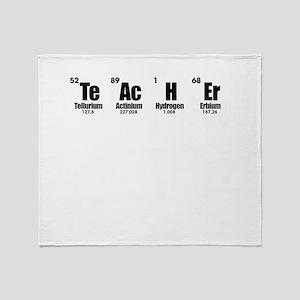 """Teacher"" in Periodic Table Style Throw Blanket"
