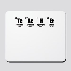 """Teacher"" in Periodic Table Style Mousepad"