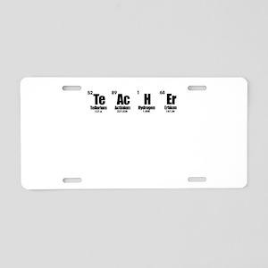 """""""Teacher"""" in Periodic Table Aluminum License Plate"""