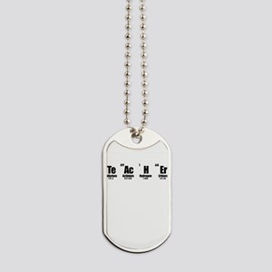 """Teacher"" in Periodic Table Style Dog Tags"
