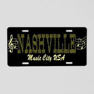 Nashville Music City-LP-02 Aluminum License Plate