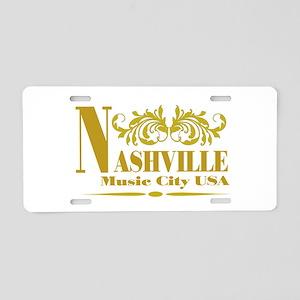Vintage Nashville LP-04 Aluminum License Plate