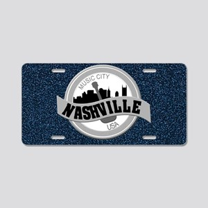 Nashville Music City USA-LP Aluminum License Plate