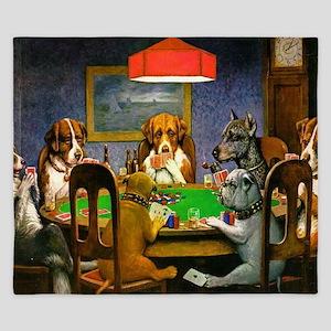 Dogs Playing Poker King Duvet