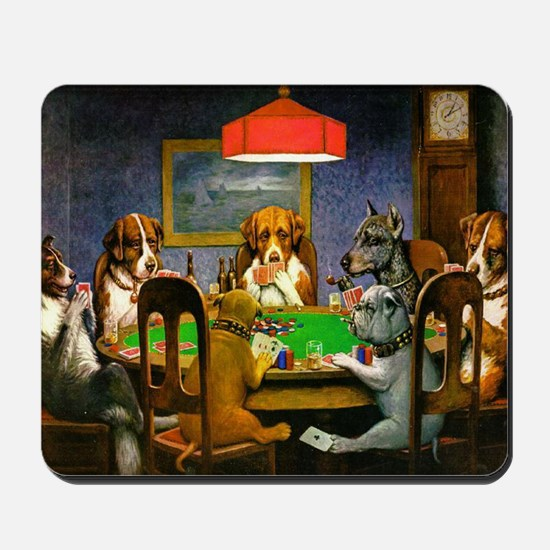 Dogs Playing Poker Mousepad