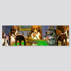 Dogs Playing Poker Bumper Sticker
