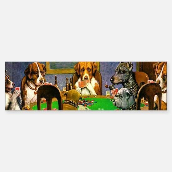 Dogs Playing Poker Bumper Bumper Bumper Sticker