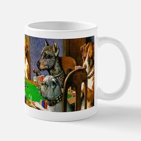 Dogs Playing Poker Mugs