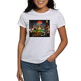 Dogs playing poker Women's T-Shirt