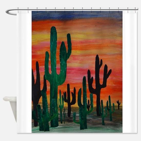 Cute Cactus Shower Curtain