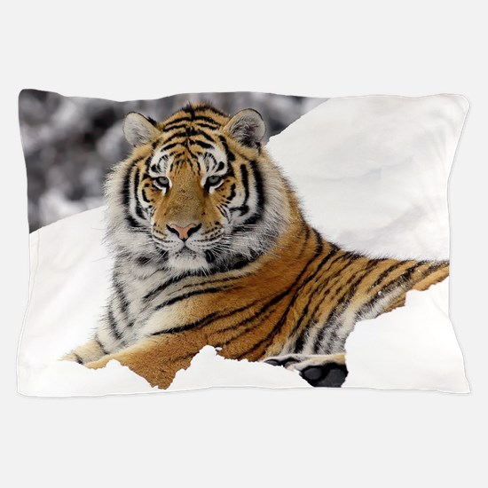 Tiger In Snow Pillow Case
