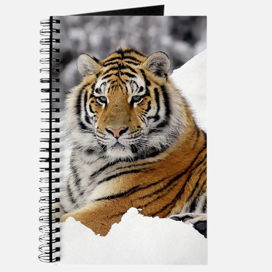 Tiger In Snow Journal