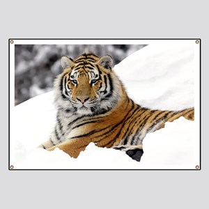 Tiger In Snow Banner