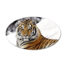 Tiger In Snow Wall Sticker
