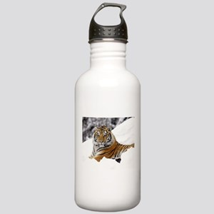 Tiger In Snow Sports Water Bottle