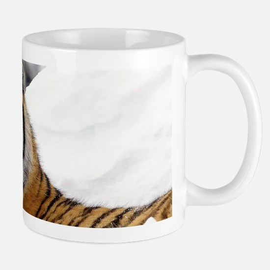 Tiger In Snow Mugs