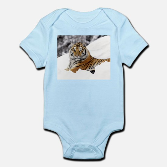 Tiger In Snow Body Suit