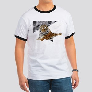 Tiger In Snow T-Shirt