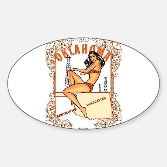 Cute Moore oklahoma Sticker (Oval)