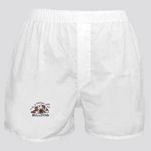 Better With Bulldog Boxer Shorts