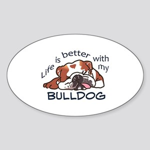 Better With Bulldog Sticker