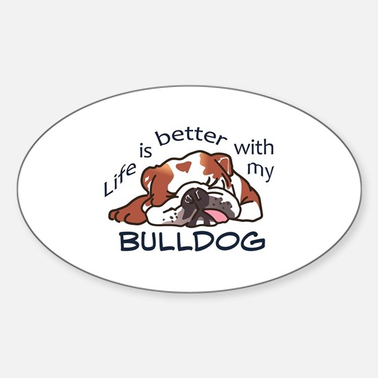 Better With Bulldog Decal
