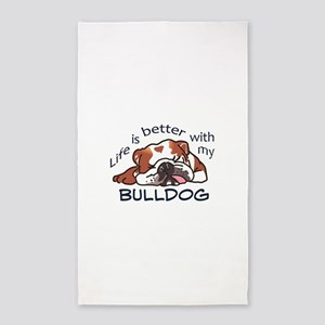 Better With Bulldog Area Rug