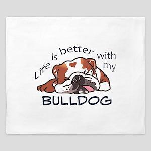 Better With Bulldog King Duvet