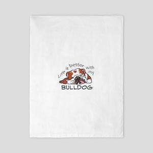 Better With Bulldog Twin Duvet