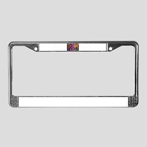 Graffiti colors License Plate Frame