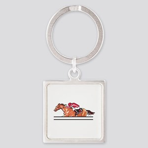 Race Horse Keychains
