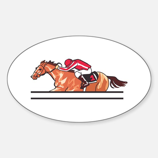 Race Horse Decal