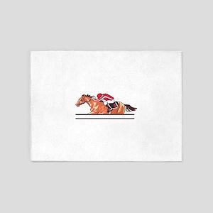 Race Horse 5'x7'Area Rug
